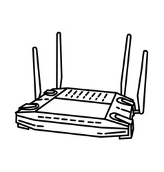 linksys icon doodle hand drawn or outline icon vector image