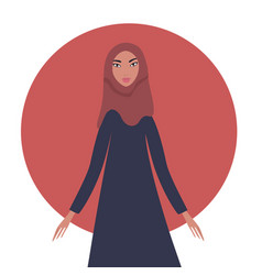 lovely happy young girl portrait beautiful muslim vector image