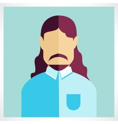 Man beard flat icon vector