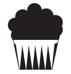 muffin black stroke linear icon vector image