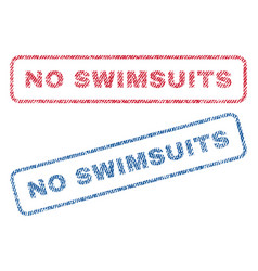 no swimsuits textile stamps vector image