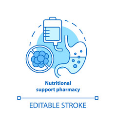 Nutritional support pharmacy concept icon vector