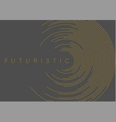 orange circular lines abstract futuristic tech vector image