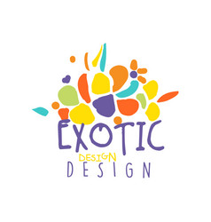 original scribble exotic logo design for travel vector image vector image