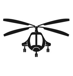 Passenger helicopter front view icon simple style vector