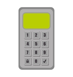 Password code security system vector