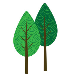 Patterned trees vector