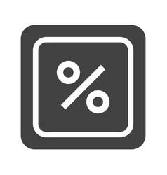 percentage symbol vector image