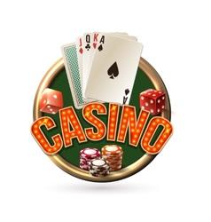 Pocker casino emblem vector image