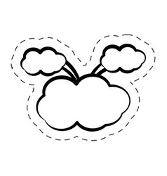 pop art speech bubble symbol vector image