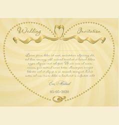 ribbon wedding r3 vector image