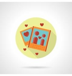 Romantic photo icon flat round style vector image
