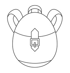 Rucksack icon outline style vector