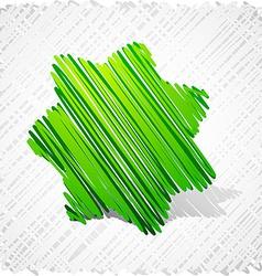 Scribbled green seven-star vector