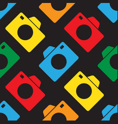 Seamless - color cameras vector
