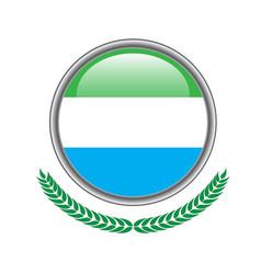 sierra-leone flag button sierra-leone flag icon vector image