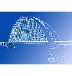 Silhouette of golden gate bridge vector image