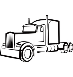 Simple with a truck vector