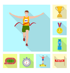 Sport and winner icon vector