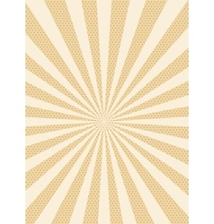Sun retro dotted background vector