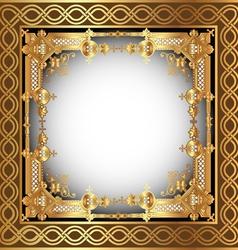 Vintage Golden Frame vector image