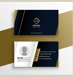 vip business card in dark theme template design vector image