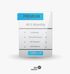 Web boxes hosting plans vector