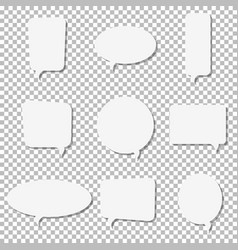 white paper speech bubble icons vector image