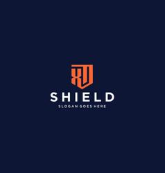 xd shield logo vector image