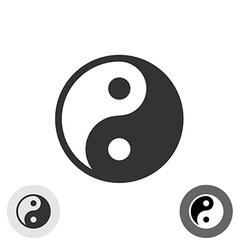 Yin-yang black round logo japan symbol vector