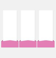 3 options infographics web template set vector image