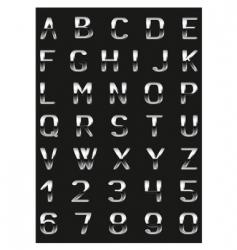 abc metal vector image
