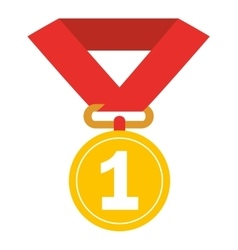 first place medal isolated icon design vector image
