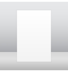 Paper rectangle banner mock up a4 vector