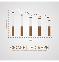 Cigarette graph flat life and age concept vector image vector image
