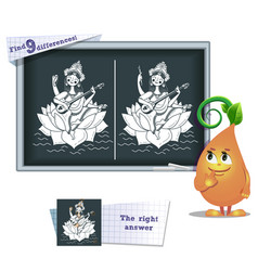 game find 9 differences saraswati vector image vector image