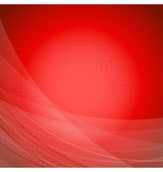 Red wave bright background template vector image vector image
