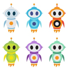 Robot rocket mascot logo Cute robot character vector image vector image