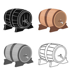 beer barrel icon in cartoon style isolated on vector image vector image