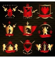 Heraldic Vintage Stylish Labels vector image
