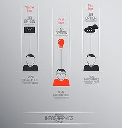 infographics template 5 vector image vector image