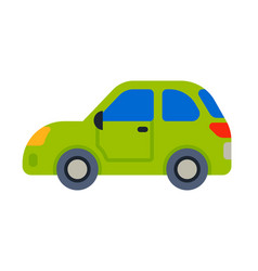 car vehicle green transport type design travel vector image