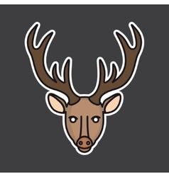 deer head mascot vector image vector image