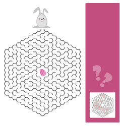 easter maze game or activity page for kids with vector image