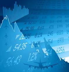 financial crash blue vector image vector image