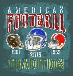 football tradition vector image