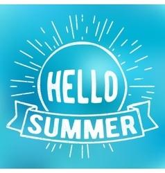 Hello summer stamp vector image