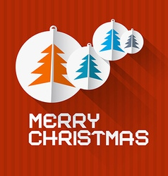Retro Red Background with Christmas Balls and vector image