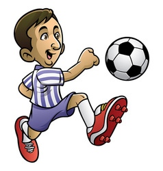 soccer player playing the ball vector image