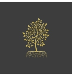 tree with roots logo element vector image